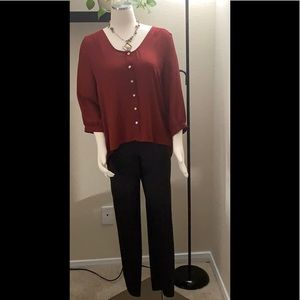 Olivaceous Womens Lightweight Loose-fitting Blouse